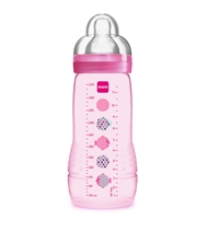 Sutteflaske, MAM Easy Active Baby, 330 ml, Pink