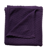 Babytæppe, Knit dot blanket, GOTS certificeret, Müsli by Green Cotton, Lavender